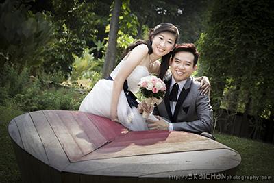 Pre-wedding Photoshoot - Peter & Peiwei @ Registries of Marriages Singapore, Fortcanning Park