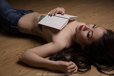 Art Implied Nude Lifestyle Photoshoot - Eva Loa @ Indoor, Ang Mo Kio