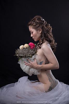 Bridal & Implied nude Photoshoot - Eva Loa @ Studio, Tanjong Pagar