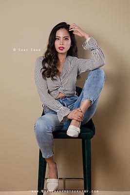 Modelling Portfolio Photoshoot - Karen Ivy Diaz @ Indoor, Tanjong Pagar