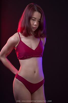 Modelling Portfolio & Bikini Photoshoot - Cheryl Alicia Chua @ Studio, Tanjong Pagar