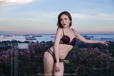 Boudoir Photoshoot - Audrey Chen @ Marina Bay Sands (MBS) hotel